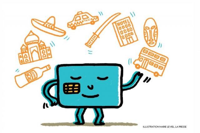 Dans la vie de tous les jours, les consommateurs utilisent la carte de débit... (Illustration: Marie Leviel, La Presse)