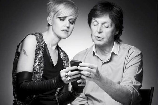 Geneviève Borne et Paul McCartney... (Photo: fournie par Quest Management)