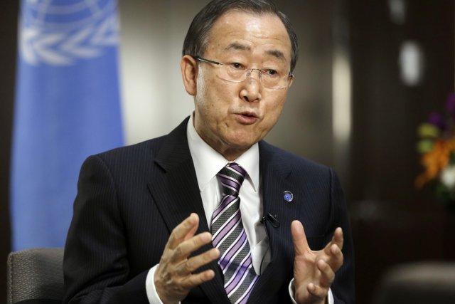 Le secrétaire général de l'ONU Ban Ki-moon.... (PHOTO FRANK FRANKLIN II, ARCHIVES AP)