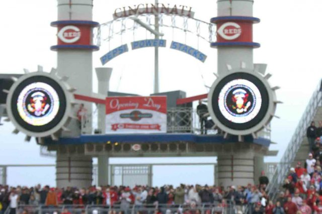 Le Great American Ball Park de Cincinnati.... (Photo archives Associated Press)
