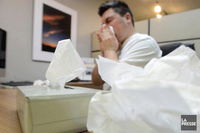 La grippe frappe fort dans la région au point de créer des débordements dans... (Photo La Presse)