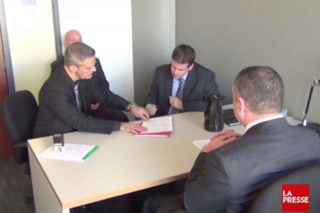 L'expert Simon Ruel s'étonne que la Commission ait... (Image tirée de la vidéo de l'interrogatoire de Martin Dumont)
