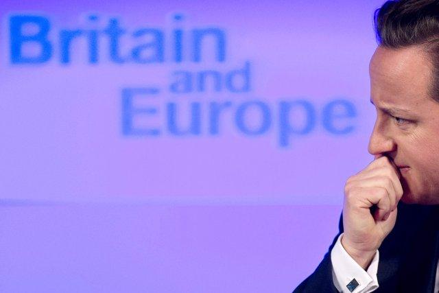 Le premier ministre britannique David Cameron a livré... (PHOTO  BEN STANSALL, AFP)