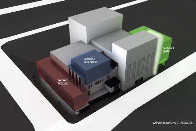 Le projet d'agrandissement du TNM comprend l'ajout d'un... (Maquette fournie par le TNM)