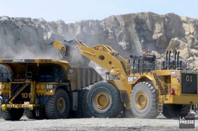 À Malartic, là où est exploitée la mine... (Photo Minalliance)