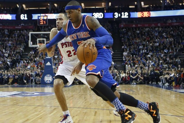 Carmelo Anthony des Knicks.... (Photo AP)