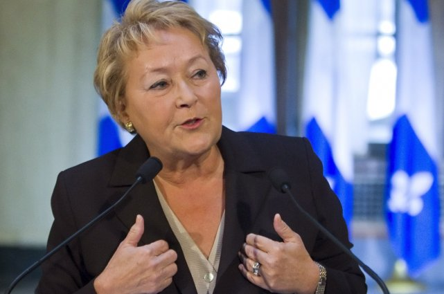 La première ministre du Québec, Pauline Marois... (La Presse Canadienne)