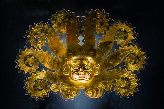 Une des pièces majeures de l'exposition Pérou: royaumes du Soleil et de la... (Photo: Édouard Plante-Fréchette, La Presse)