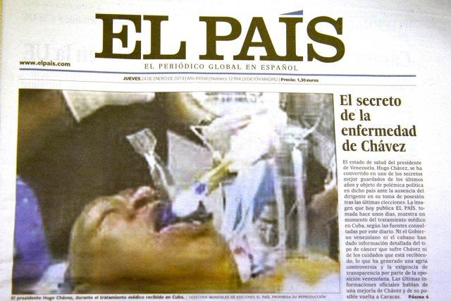 Le quotidien espagnolEl Pais a publié jeudi en... (PHOTO DOMINIQUE FAGET, AFP)