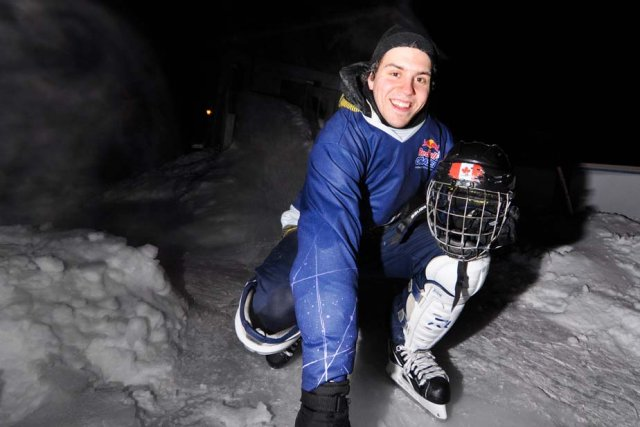 Samuel Richard participe au Red Bull Crashed Ice... (Photo: Émilie O'Connor)