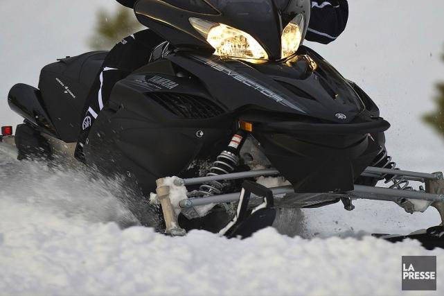 La motoneige a fait sa première victime dans la région cette année. (Photo archives)
