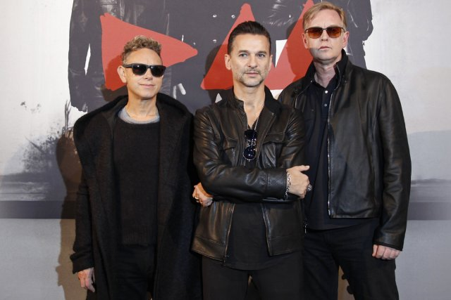 Martin Gore, Dave Gahan et Andrew Fletcher du... (Photo: Reuters)
