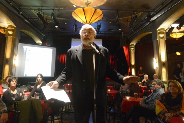 Pierre Maisonneuve a pris la parole  afin... (Photo: Bernard Brault, La Presse)
