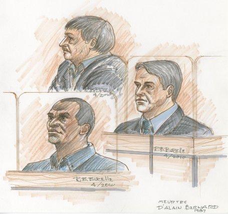 Les accusés  (dans le sens de l'aiguille... (illustration Bill Burelle, collaboration spéciale)
