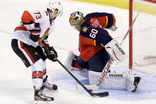 Craig Anderson a battu les Panthers de la Floride. Encore une fois. (Associated Press)
