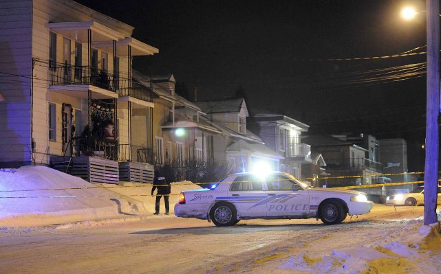 L'incident se serait déroulé dans cette maison blanche... ((Photo Rocket Lavoie))