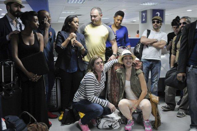 Les premiers touristes québécois sont arrivés à Port-au-Prince... (Photo: Reuters)