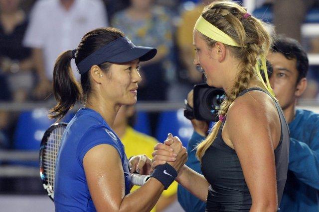 La Chinoise Li Na et la Biélorusse Victoria... (Photo: AFP)