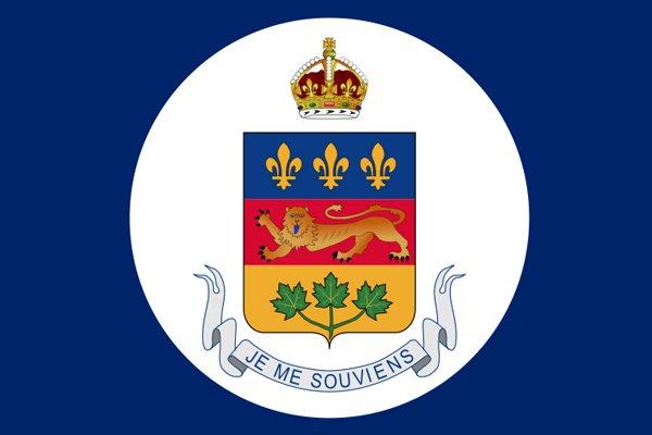 Drapeau du lieutenant-gouvernement du Québec....