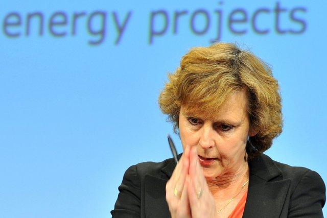 La commissaire européenne chargée du Climat, Connie ... (Photo: archives AFP)