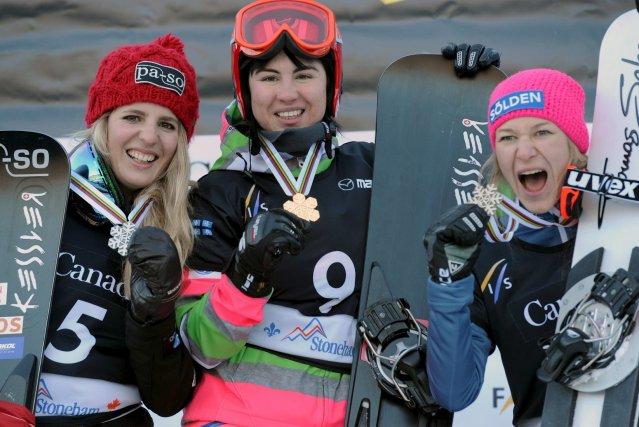La Russe Ekaterina Tudegesheva (au centre) a remporté... (Le Soleil, Erick Labbé)