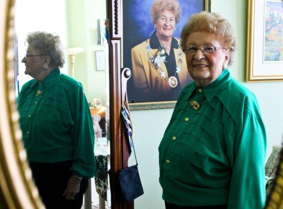 Constance Provost, 88 ans, a été mairesse d'Aylmer... (Patrick Woodbury, Archives LeDroit)