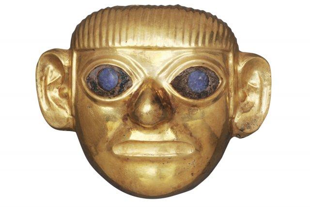 Ornement Mochica en forme de tête humaine (Pérou,... (Photo: Édouard Plante-Fréchette, La Presse)