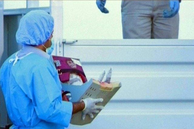 Le singe a été envoyé dans  l'espace... (Photo: AFP/AL-ALAM TV)