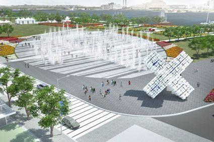 L'une des maquettes du projet touristique Destination Gatineau.... (Courtoisie)