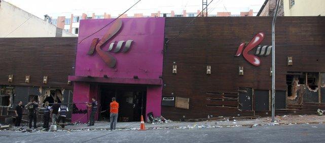 Le bar Kiss de Santa Maria, dans le... (AP)