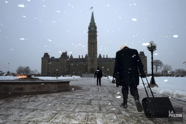 La colline parlementaire le 28 janvier 2013, jour... (Photo Sean Kilpatrick, Presse Canadienne)