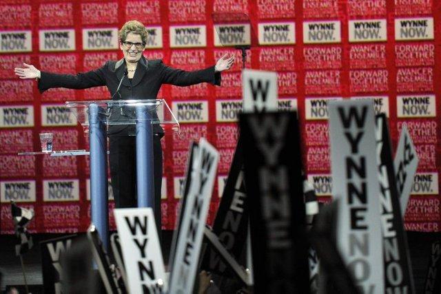 La première ministre de l'Ontario, Kathleen Wynne.... (PHOTO ÉTIENNE RANGER, LE DROIT)
