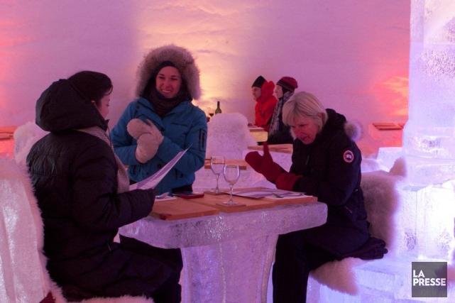 Le restaurant de glace Amarula de Laval.... (Photo: Olivier Jean, La Presse)