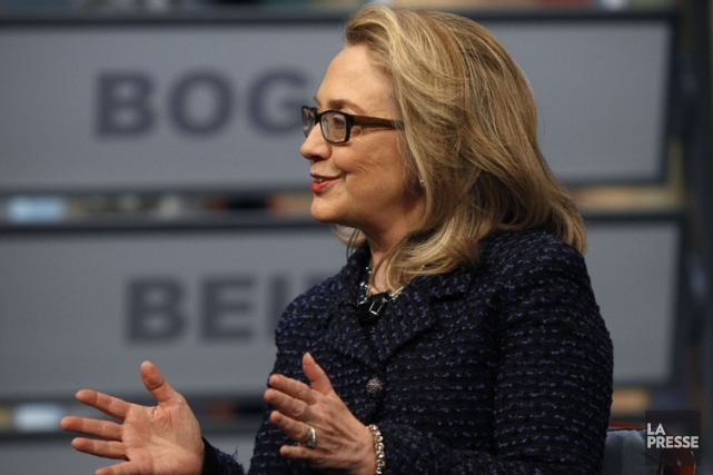 Hillary Clinton a été interrogée par des journalistes... (Photo: Reuters)