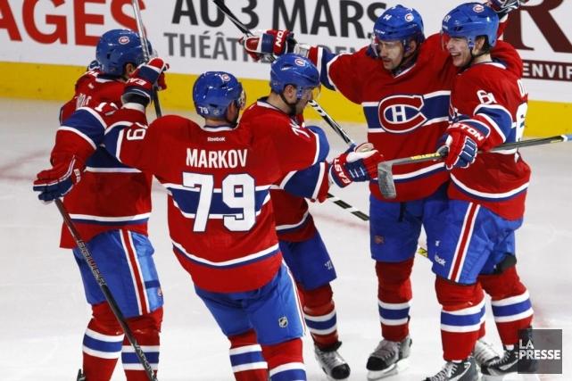Voici le bulletin des joueurs du Canadien de Pierre Ladouceur pour le match... (Photo Olivier Jean, La Presse)