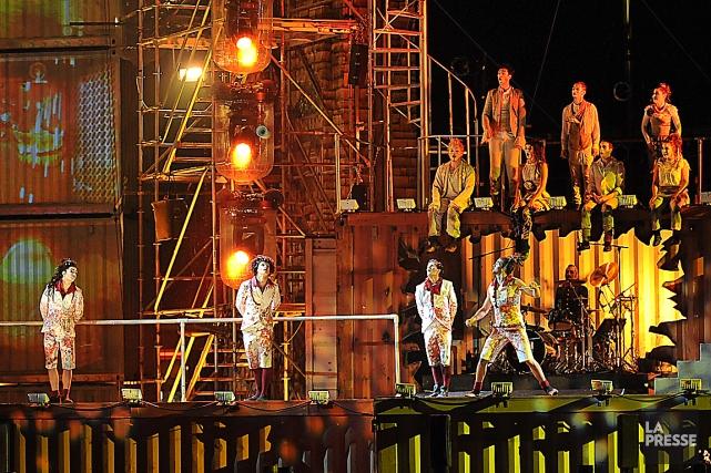 Le spectacle gratuit du Cirque du Soleil sera... (Photothèque Le Soleil, Steve Deschênes)