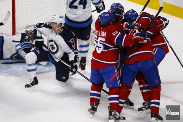 Une chance que le Canadien a fini par gagner ce match, parce que ça aurait... (Photo: Olivier Jean, La Presse)