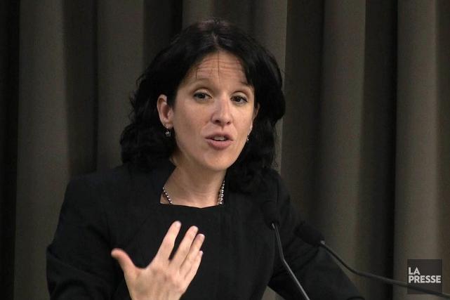 Me Sonia Lebel est procureure en chef de... (PHOTO TIRÉE D'UNE VIDÉO)