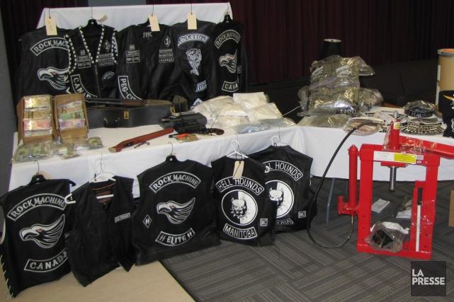 L'importante opération policière qui a durement frappé le chapitre des Rock... (Photo fournie par la GRC)