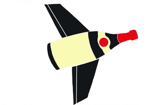 Les voyageurs hésitent parfois avant de rapporter des vins dans leurs bagages,... (Illustration Charlotte Demers-Labrecque, La Presse)