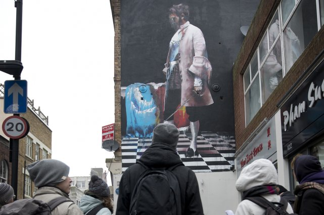 Oeuvre de Connor Harrington dans les rues de Londres.... (Photo RelaxNews)