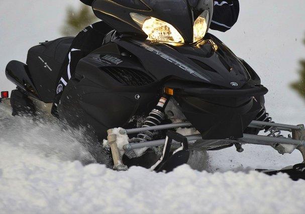 Deux motoneigistes ont été blessés, hier, lors d'une balade en motoneige, à... (Photo archives)