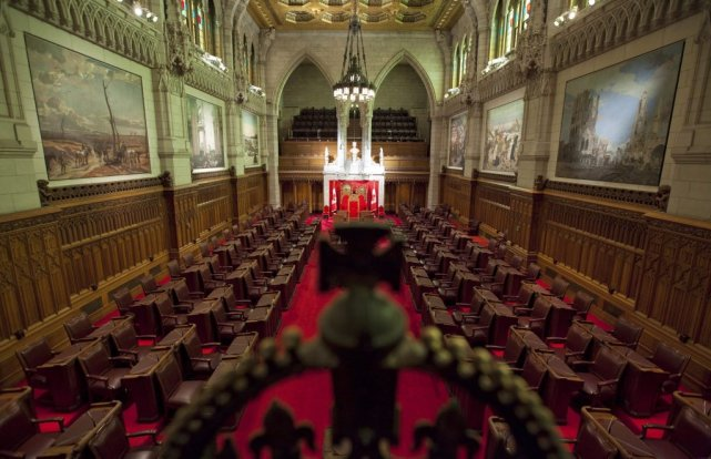 Le Sénat du Canada.... (Photo La Presse Canadienne)