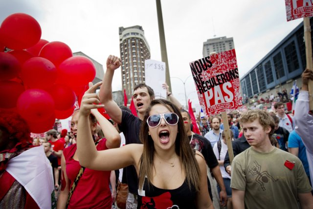 À pareille date l'an dernier, le Québec était en effervescence, à l'aube d'une... (Photo: Marco Campanozzi, La Presse)