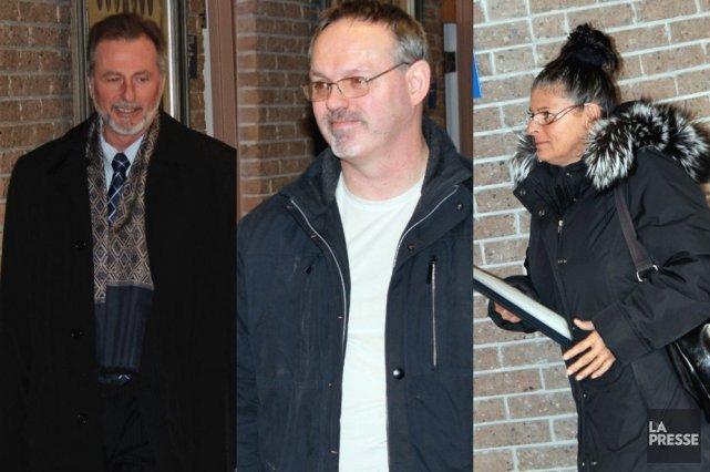 Les accusés Yves Gosselin, Michel Lagrandeur et Linda... (Archives La Tribune)