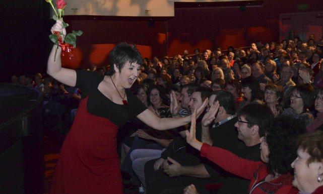 Marie-Lise Pilote s'est amusée avec le public avant... ((Photo Louis Potvin))