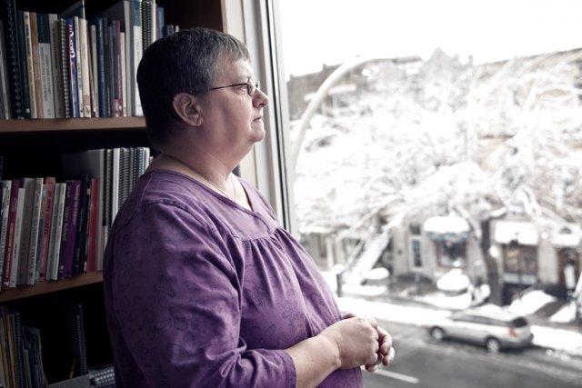 Karol O'Brien, coordonnatrice du Centre de solidarité lesbien... (Photo : Daphné Caron)