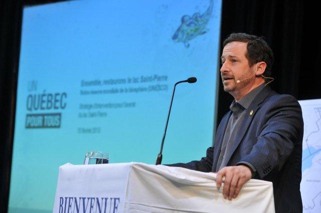 Le ministre du Développement durable, de l'Environnement, de... (photo: stéphane lessard)