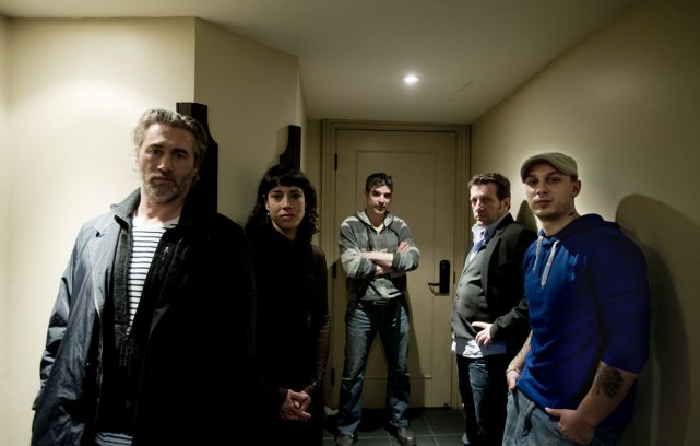 Les artisant du film Roche-Papier-Ciseaux. De gauche à... (Photo Marco Campanozzi, La Presse)