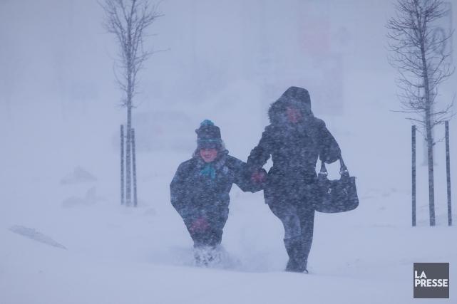 L'hiver n'a pas dit son dernier mot. La tempête qui s'approche du nord-est de... (Photo: André Pichette, archives La Presse)